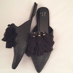 a new day Shoes - Tassel mules 8.5 NWOT